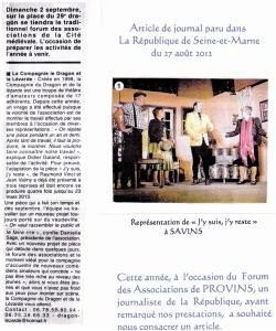 Photo + article La République du 27-08-2012 (2)